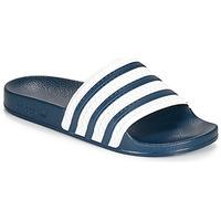 Schuhe Pantoletten adidas Originals ADILETTE Blau / Weiß