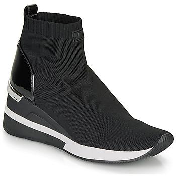 Chaussures Femme Baskets montantes MICHAEL Michael Kors SKYLER Noir