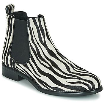 Scarpe Donna Stivaletti Betty London HUGUETTE Nero / Bianco / Zebra