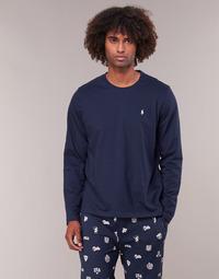 Abbigliamento Uomo T-shirts a maniche lunghe Polo Ralph Lauren L/S CREW-CREW-SLEEP TOP Marine