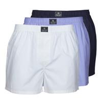 Unterwäsche Herren Boxershorts Polo Ralph Lauren OPEN BOXER-3 PACK-BOXER Weiss / Blau / Marine