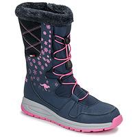 Schuhe Damen Schneestiefel Kangaroos K-GLAZE RTX Marine / Rose