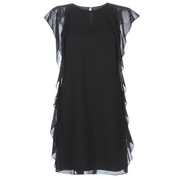 Vêtements Femme Robes courtes Lauren Ralph Lauren RUFFLED GEORGETTE DRESS Noir
