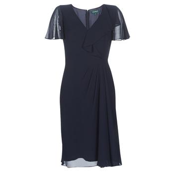 Vêtements Femme Robes longues Lauren Ralph Lauren CUTLER CAP SLEEVE DAY DRESS Marine