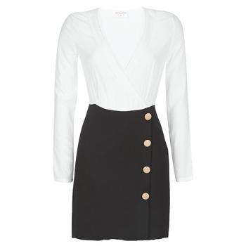 Kleidung Damen Kurze Kleider Moony Mood LUCE Schwarz / Weiss