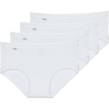 Biancheria Intima  Donna Culotte e slip Sloggi  BASIC+ X 4 Bianco