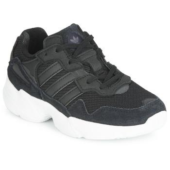 Schuhe Kinder Sneaker Low adidas Originals YUNG-96 C Schwarz
