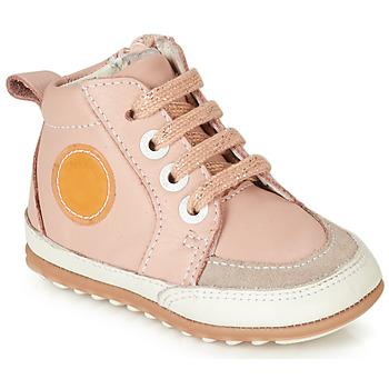 Chaussures Fille Baskets montantes Robeez MIGO Rose