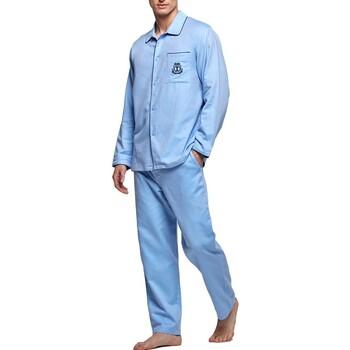 Vêtements Homme Pyjamas / Chemises de nuit Impetus Pyjama homme Bonaire bleu Bleu