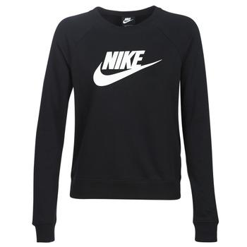 Vêtements Femme Sweats Nike W NSW ESSNTL CREW FLC HBR Noir
