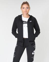 Kleidung Damen Sweatshirts Nike W NSW ESSNTL HOODIE FZ FLC Schwarz