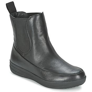 Schuhe Damen Boots FitFlop FF-LUX CHELSEA BOOT Schwarz