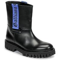 Schuhe Herren Boots John Galliano 8560 Schwarz / Blau