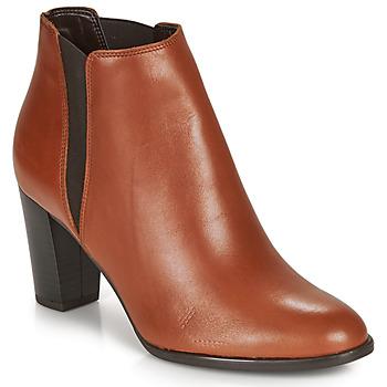 Schuhe Damen Boots André ELONA Kognac