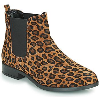 Schuhe Damen Boots André ELEGANTE Braun,