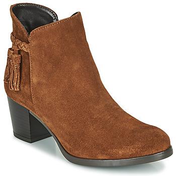 Schuhe Damen Low Boots André MARYLOU Kognac