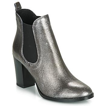 Schuhe Damen Low Boots André CLAFOUTI Silbern