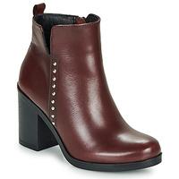 Schuhe Damen Low Boots André NOURA Bordeaux