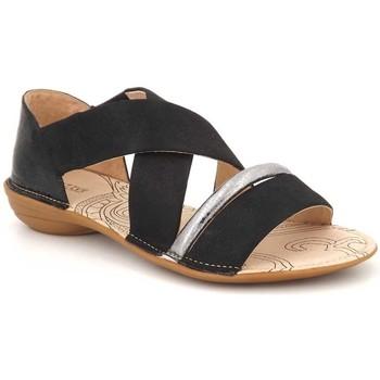 Chaussures Femme Sandales et Nu-pieds Fugitive Akto Noir