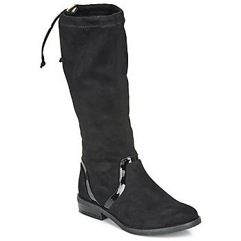 Chaussures Fille Bottes ville André ALEXINE Noir