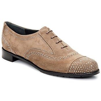 Schuhe Damen Richelieu Stuart Weitzman DERBY Beige
