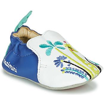 Schuhe Mädchen Hausschuhe Catimini COLIMA VTE BLANC-BLEU DPF/SOUPLE