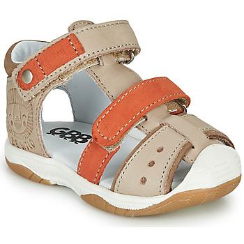 Schuhe Jungen Sandalen / Sandaletten GBB EUZAK Beige / Orange