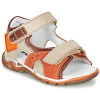 Schuhe Jungen Sandalen / Sandaletten GBB EROPE Beige / Orange