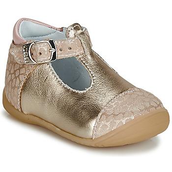 Schuhe Mädchen Ballerinas GBB MERTONE CRT BEIGE-BEIGE IMPR DPF/KEZIA