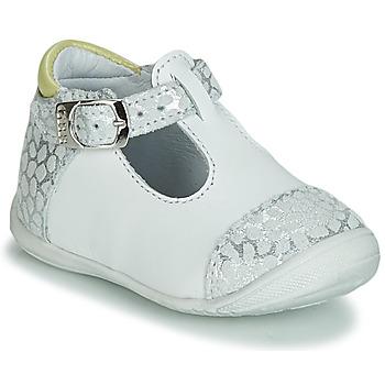 Chaussures Fille Ballerines / babies GBB MERTONE VTC BLANC-GRIS IMPR DPF/KEZIA