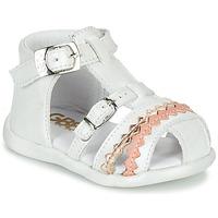 Chaussures Fille Sandales et Nu-pieds GBB ALIDA VTE BLANC DPF/CRIC