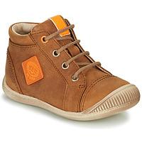 Chaussures Garçon Baskets montantes GBB TARAVI NUB FAUVE DPF/RAIZA