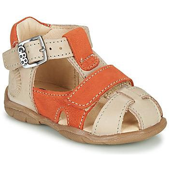 Chaussures Garçon Sandales et Nu-pieds GBB SEROLO VTE SABLE-ORANGE DPF/FILOU