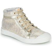 Scarpe Bambina Sneakers alte GBB NAVETTE CRT BLANC IMPR OR DPF/MILENA