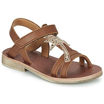 Chaussures Fille Sandales et Nu-pieds GBB SAPELA VTE CAMEL DPF/COCA