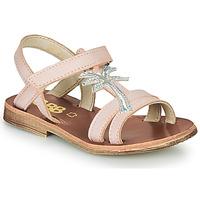 Schuhe Mädchen Sandalen / Sandaletten GBB SAPELA VTS ROSE-ARGENT DPF/COCA
