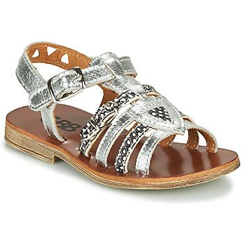 Schuhe Mädchen Sandalen / Sandaletten GBB FANNI Silbrig