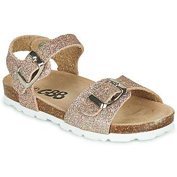 Schuhe Mädchen Sandalen / Sandaletten GBB PIPPA TTS ROSE OR DTX/SOUPLE