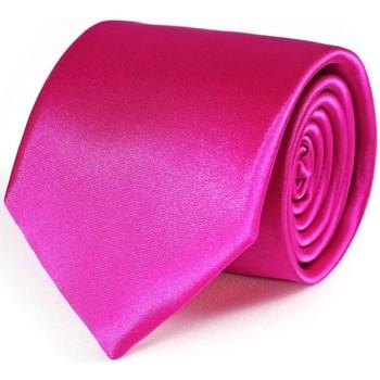 Vêtements Homme Cravates et accessoires Dandytouch Cravate unie Fuchsia