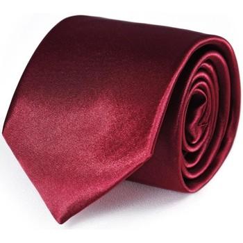 Vêtements Homme Cravates et accessoires Dandytouch Cravate unie Bordeaux
