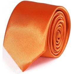 Vêtements Homme Cravates et accessoires Dandytouch Cravate Slim unie Orange