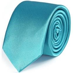 Vêtements Homme Cravates et accessoires Dandytouch Cravate Slim unie Turquoise