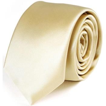 Vêtements Homme Cravates et accessoires Dandytouch Cravate Slim unie Crème Crème