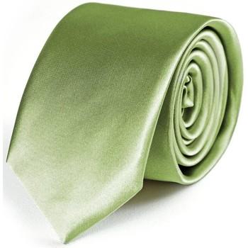 Vêtements Homme Cravates et accessoires Dandytouch Cravate Slim unie Tilleul