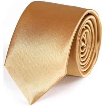 Vêtements Homme Cravates et accessoires Dandytouch Cravate Slim unie Ocre