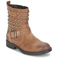 Chaussures Fille Bottes ville Geox SOFIA C Marron