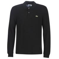 Kleidung Herren Langärmelige Polohemden Lacoste L1312 Schwarz