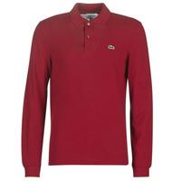 Kleidung Herren Langärmelige Polohemden Lacoste L1312 Bordeaux