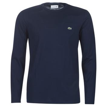 Abbigliamento Uomo T-shirts a maniche lunghe Lacoste TH6712 Marine