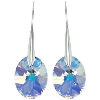 Montres & Bijoux Femme Boucles d'oreilles Sc Crystal BS008-SE003-IRIS Blanc